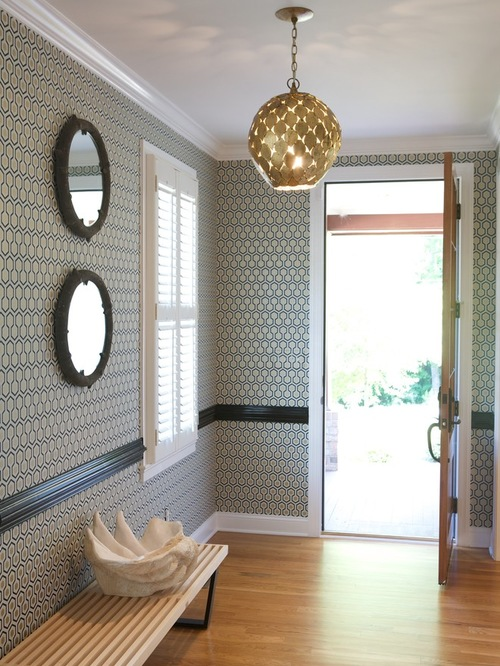 Wallpaper Above Picture Rail