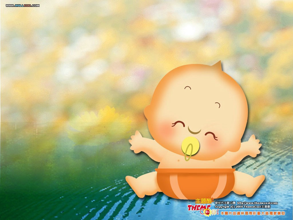 Wallpaper Baby Cartoon