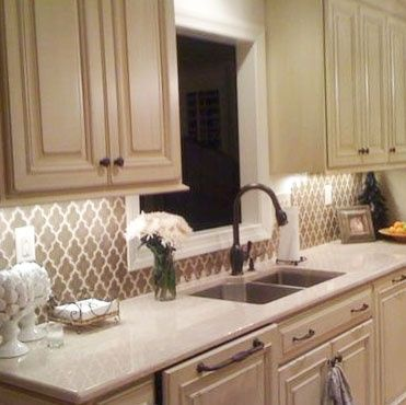 Wallpaper Backsplash In Kitchen