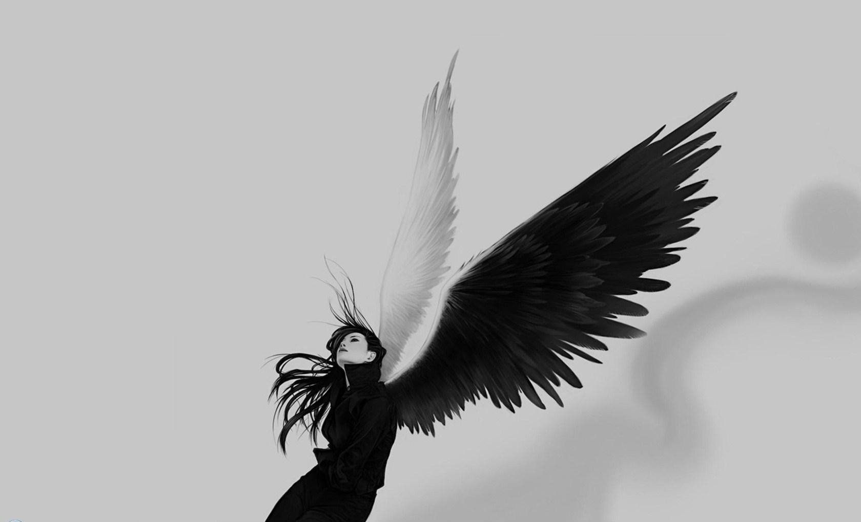 Wallpaper Black Angel