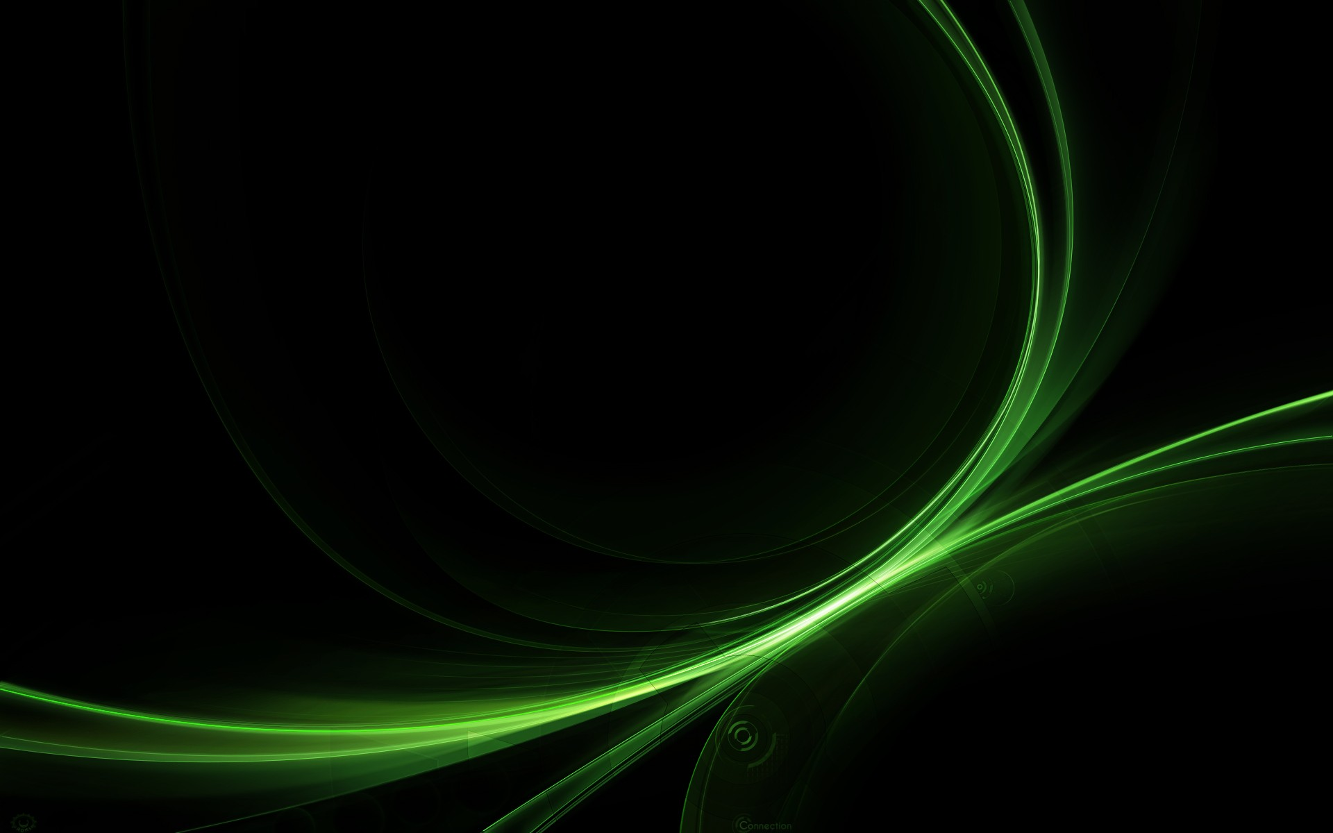 Wallpaper Black Green