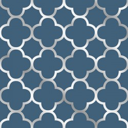 Wallpaper Blue And Silver