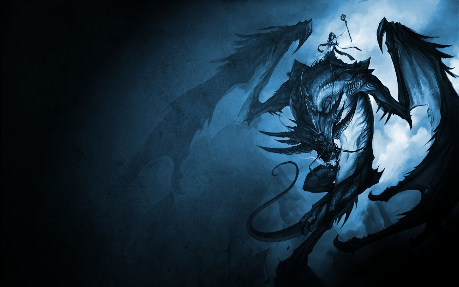Wallpaper Blue Dragon