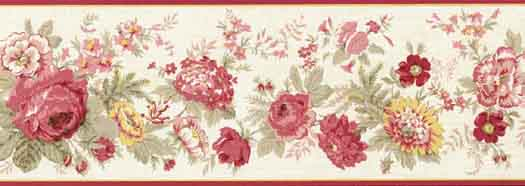 Wallpaper Border Flowers