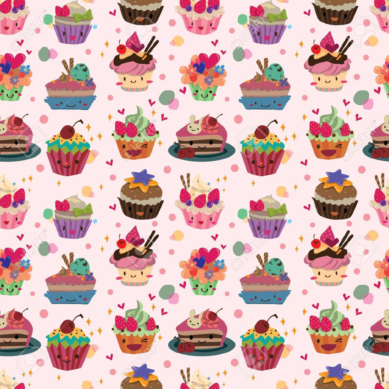 Wallpaper Cake Cartoon