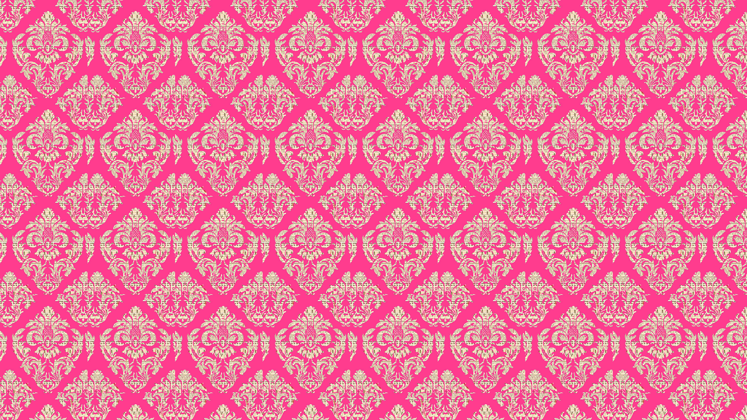 Wallpaper Damask Pink
