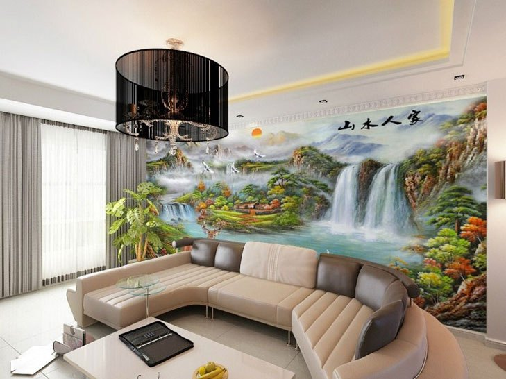 Wallpaper Designs For Living Room India