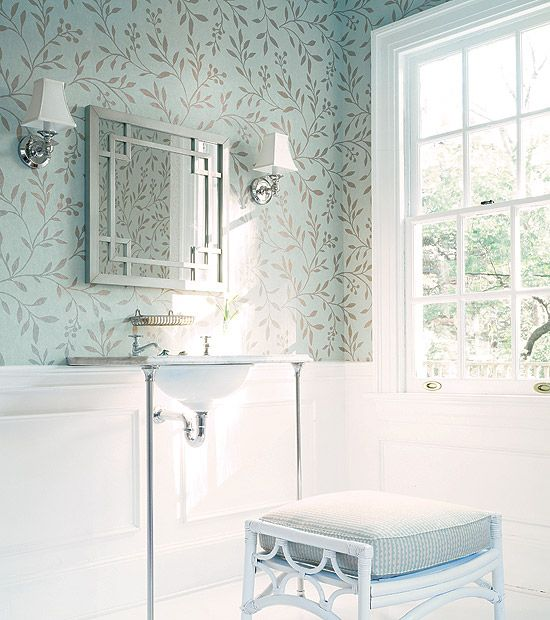 Wallpaper Dining Room Chair Rail