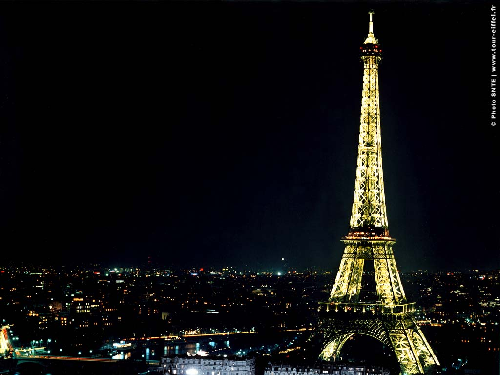 Wallpaper Eiffel Tower Night