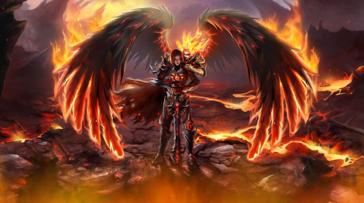 Wallpaper Fallen Angel