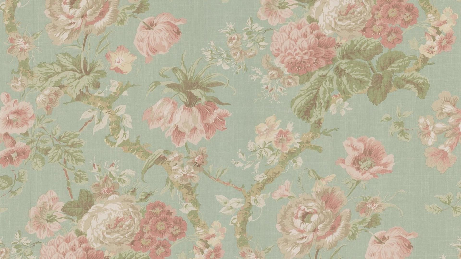 Vintage floral pattern desktop wallpaper
