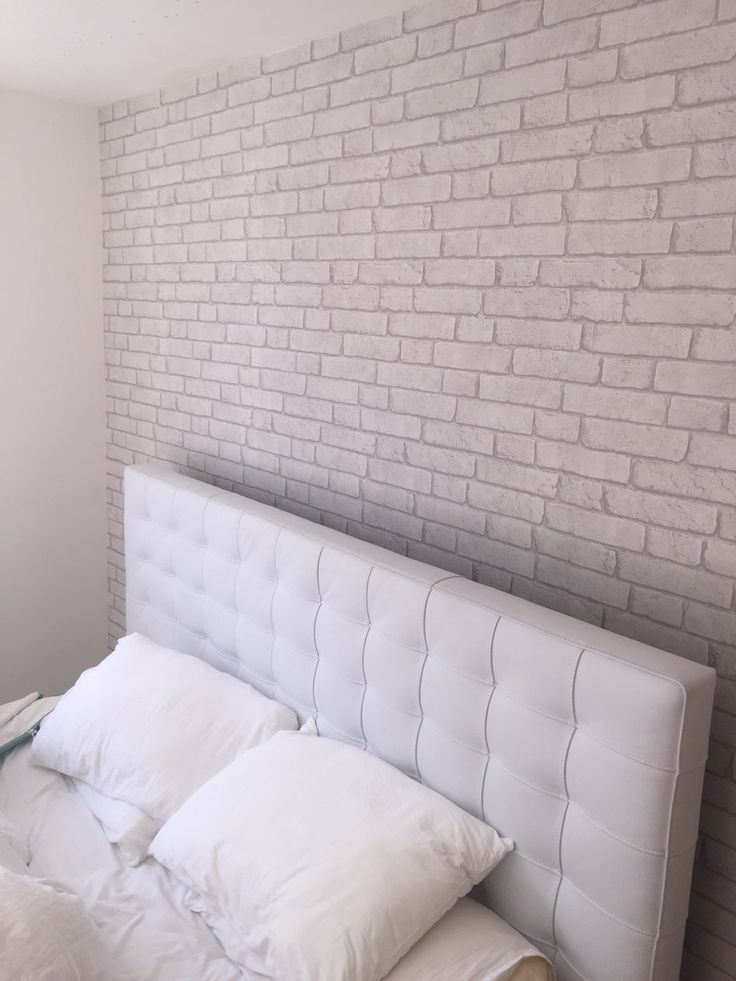 Incredible White Brick Wallpaper Bedroom