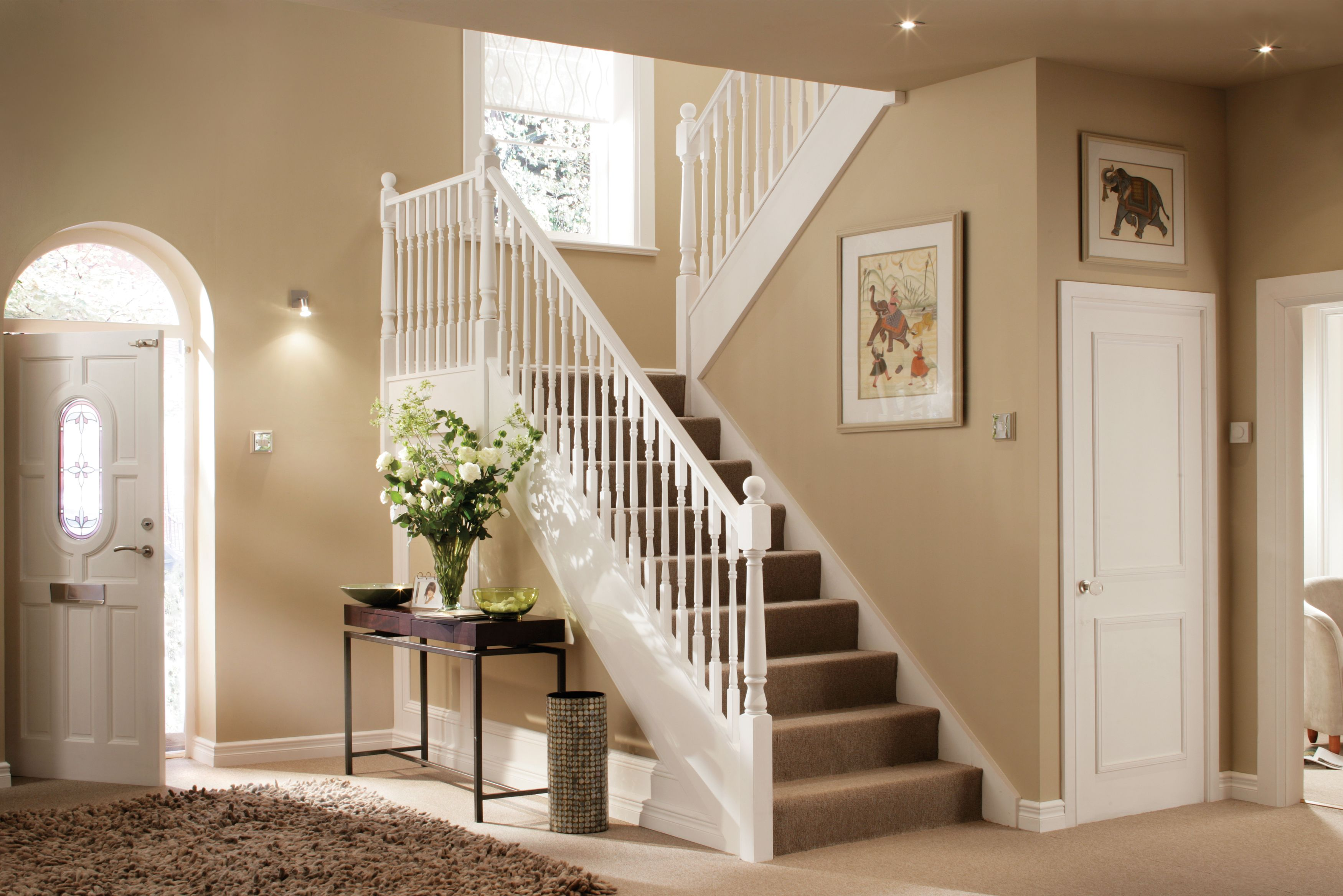 Lighting Basement Washroom Stairs: Download Wallpaper For Hall And Stairs Ideas Gallery
