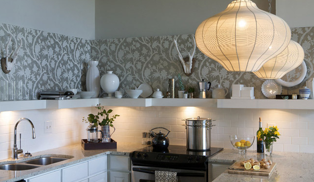 Wallpaper For Kitchen Backsplash