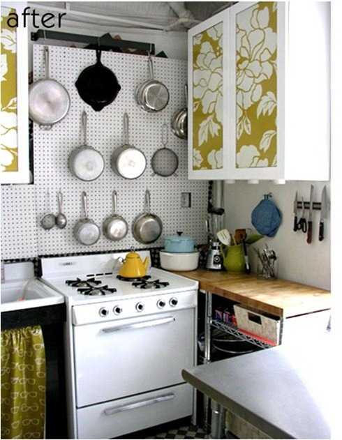 Wallpaper For Kitchen Cabinets
