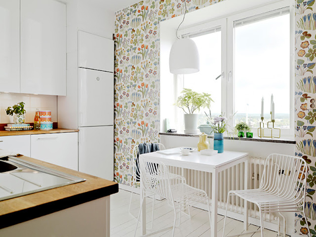 Wallpaper For Kitchen Walls