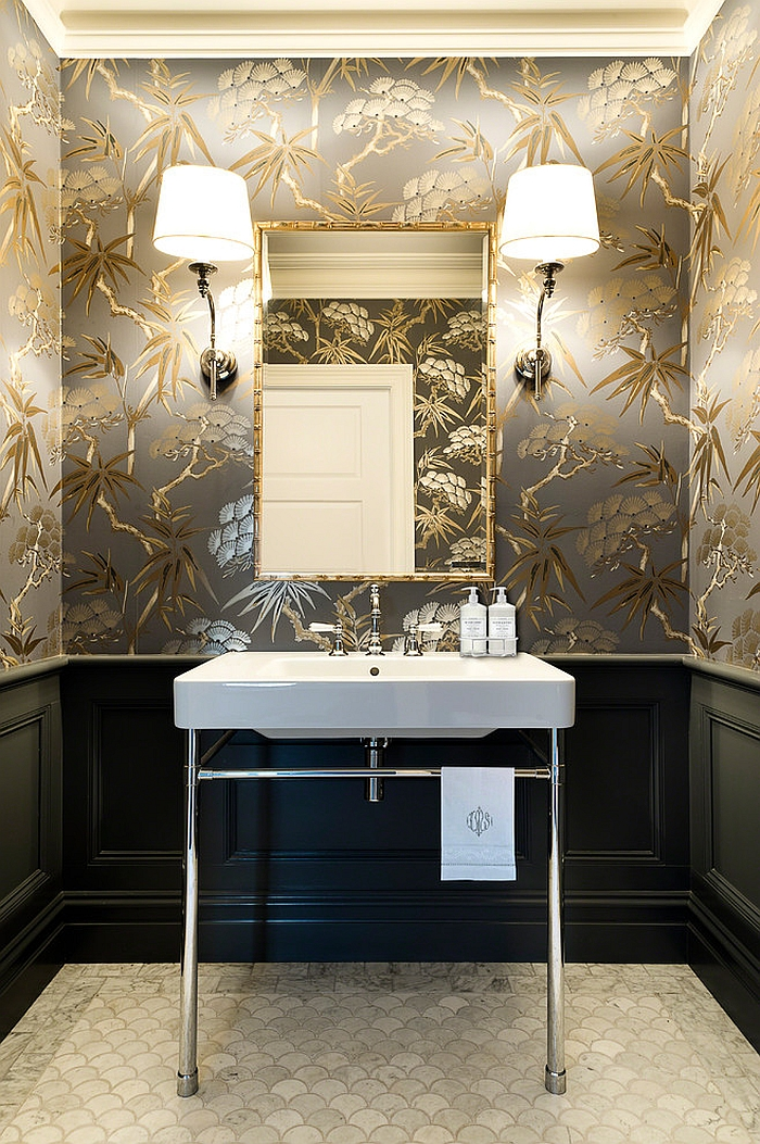 Wallpaper For Small Powder Room
