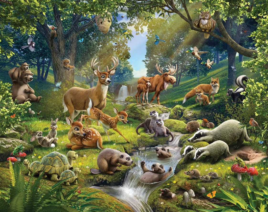 Wallpaper Forest Animals