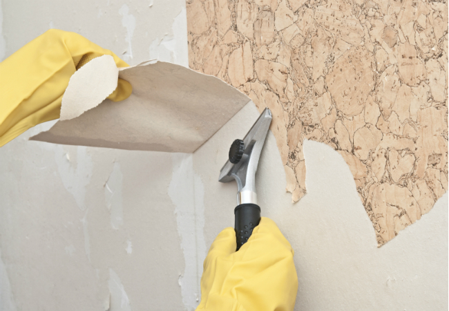 Wallpaper Glue Removal