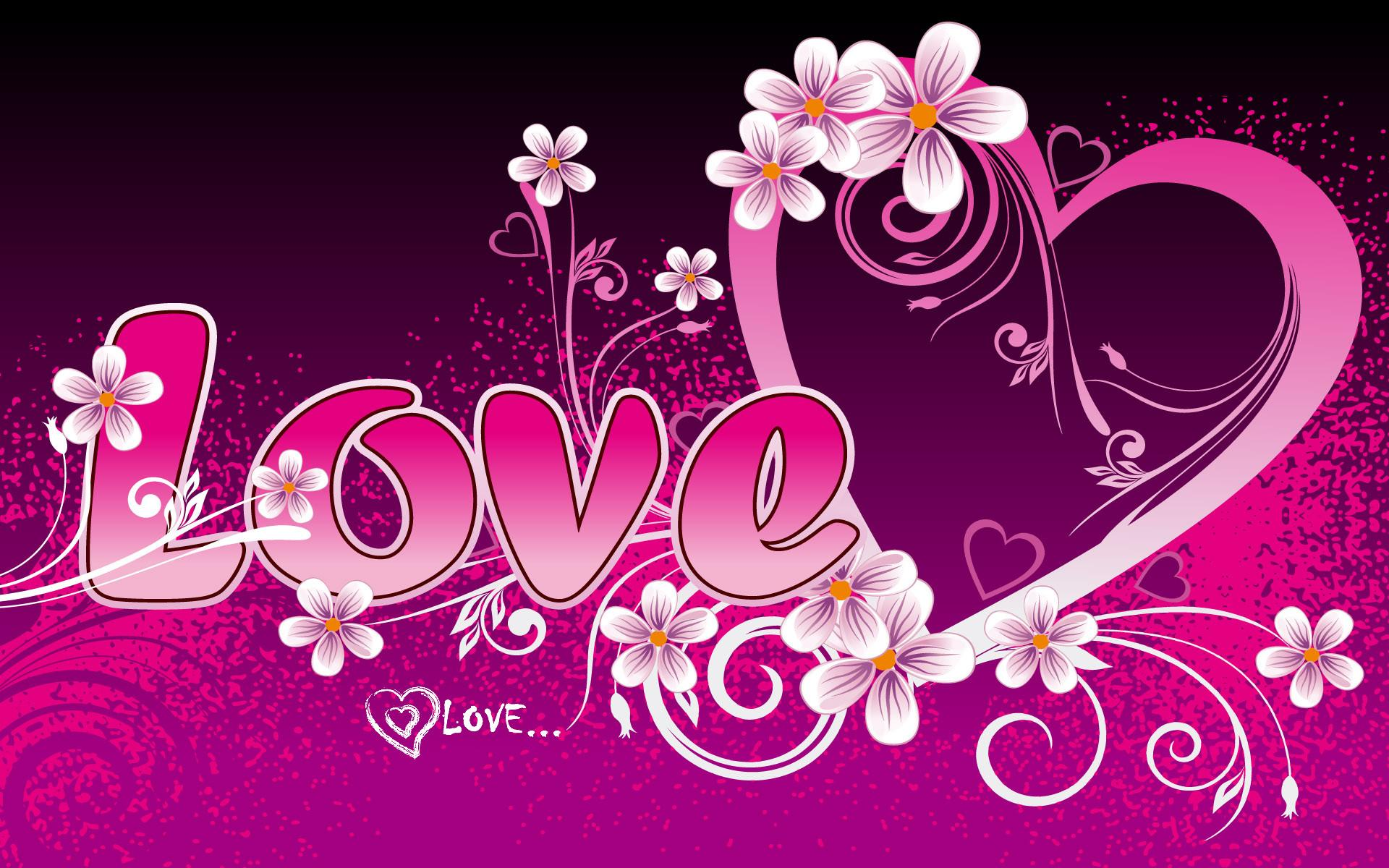 Wallpaper Hearts Love