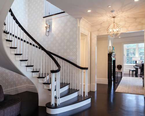 Surprising Wallpaper Stairwell Contemporary Best Inspiration