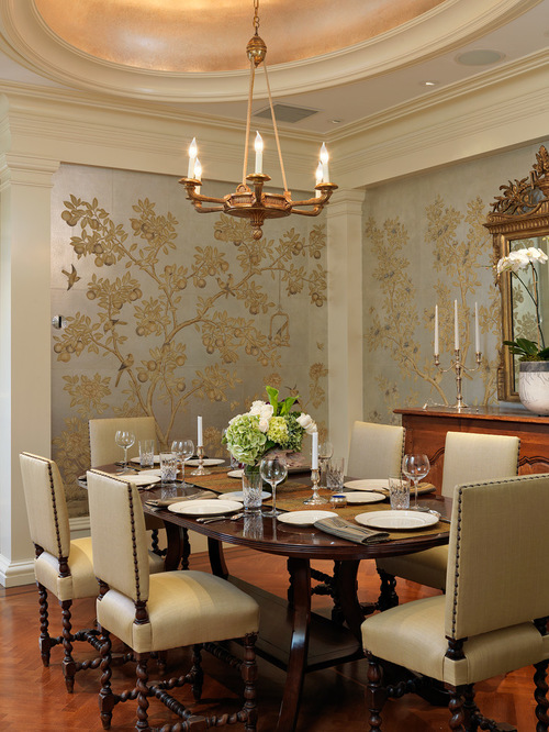 Download wallpaper in dining room gallery - Dining room wallpaper accent wall ...