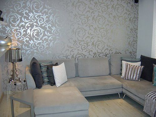 Wallpaper In The Living Room