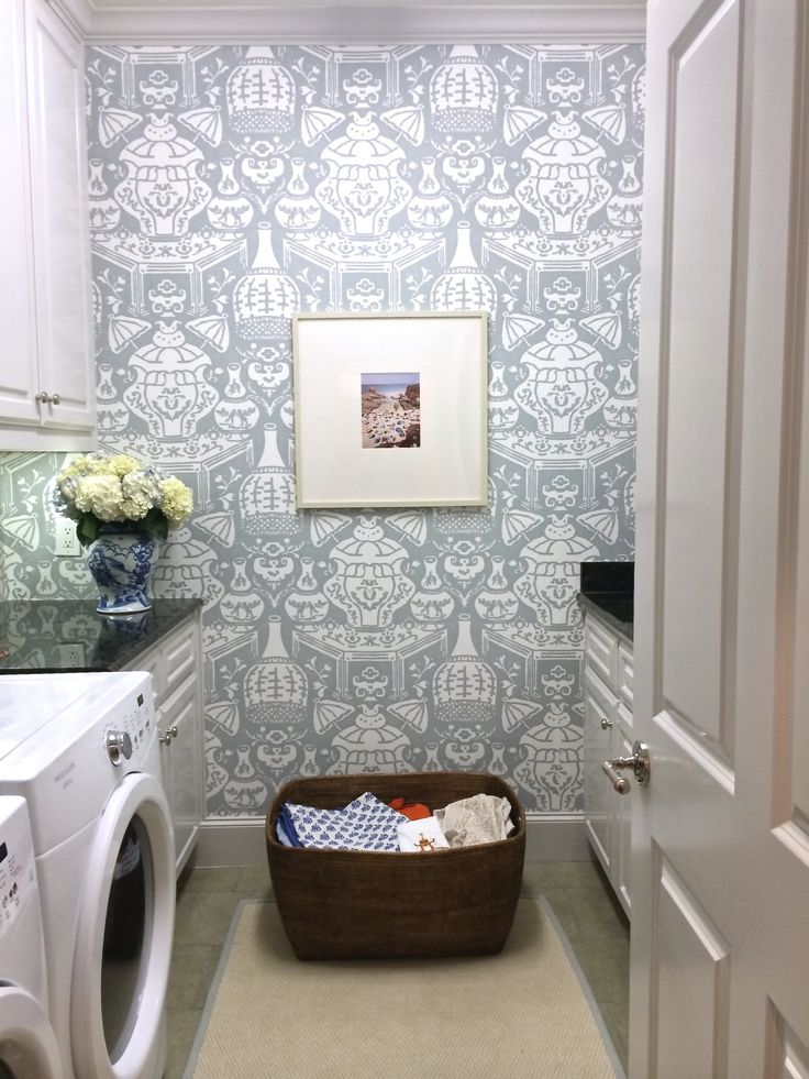 Wallpaper Laundry Room