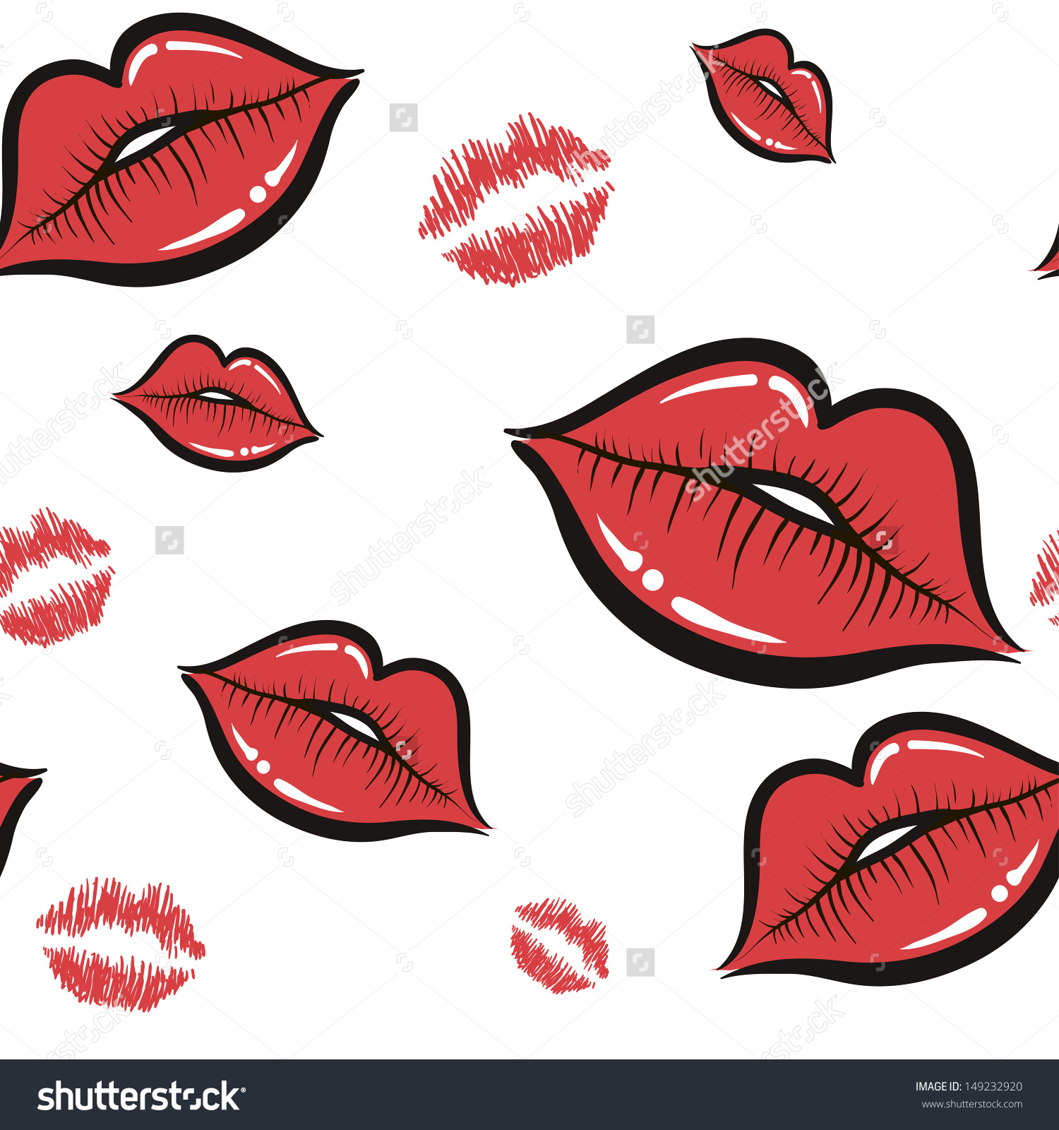 Wallpaper Lips Design