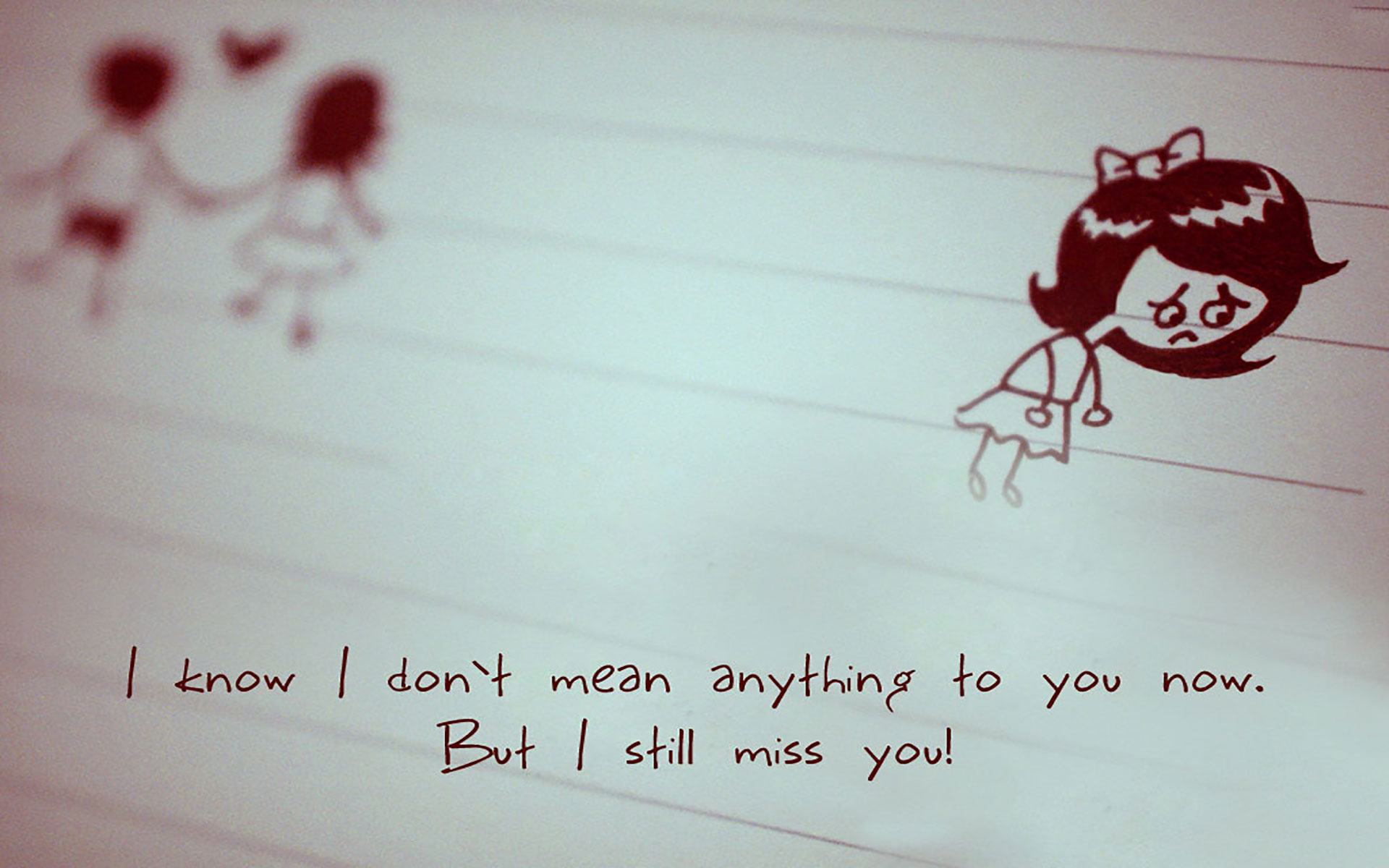 Wallpaper Love Miss You