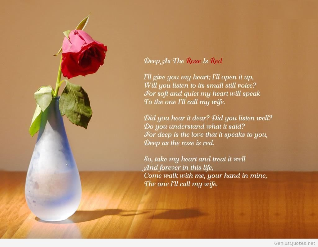 Wallpaper Love Poems