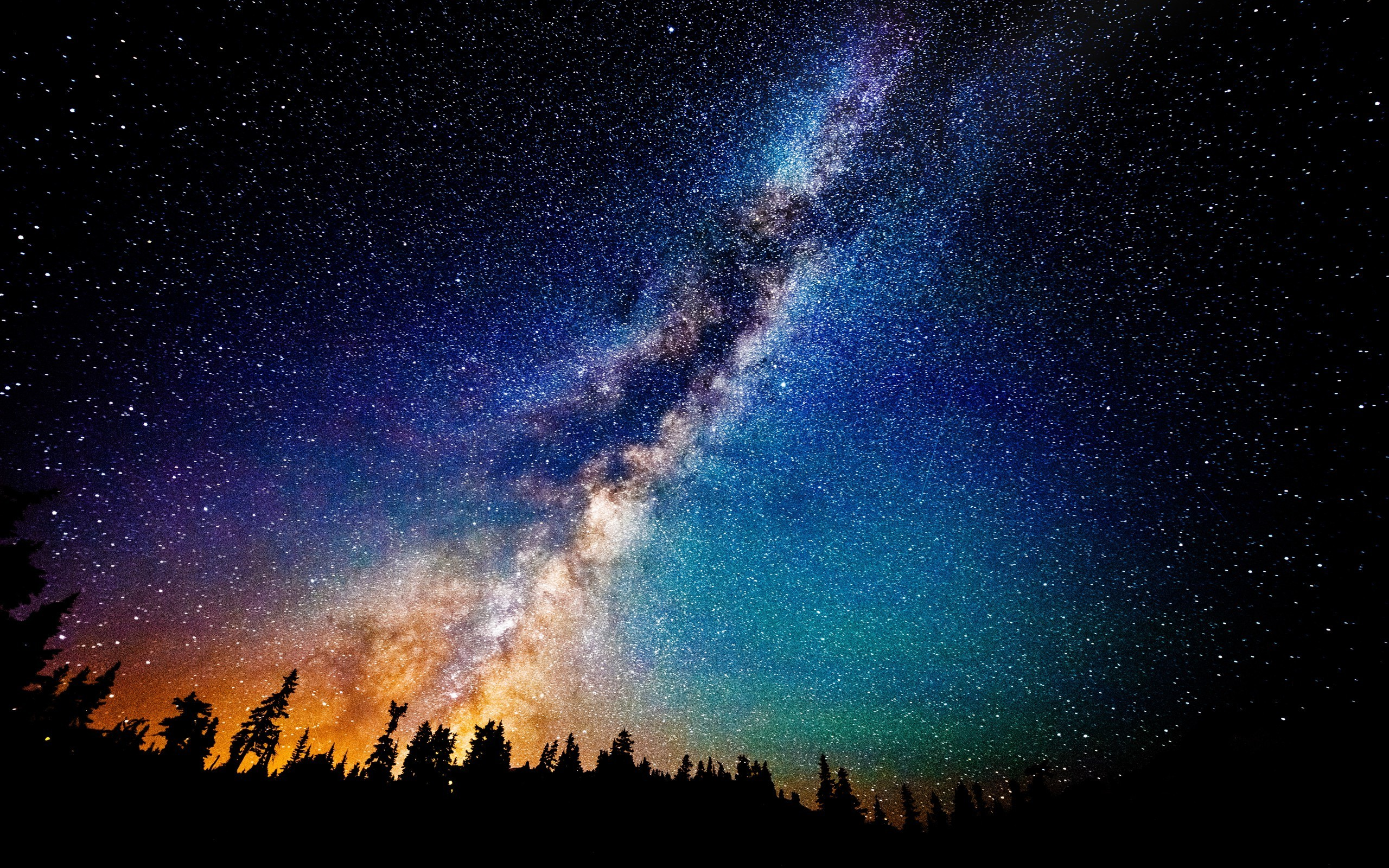 Wallpaper Milky Way Galaxy