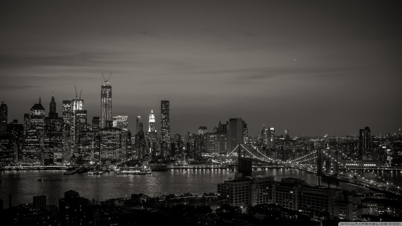Wallpaper New York Black And White