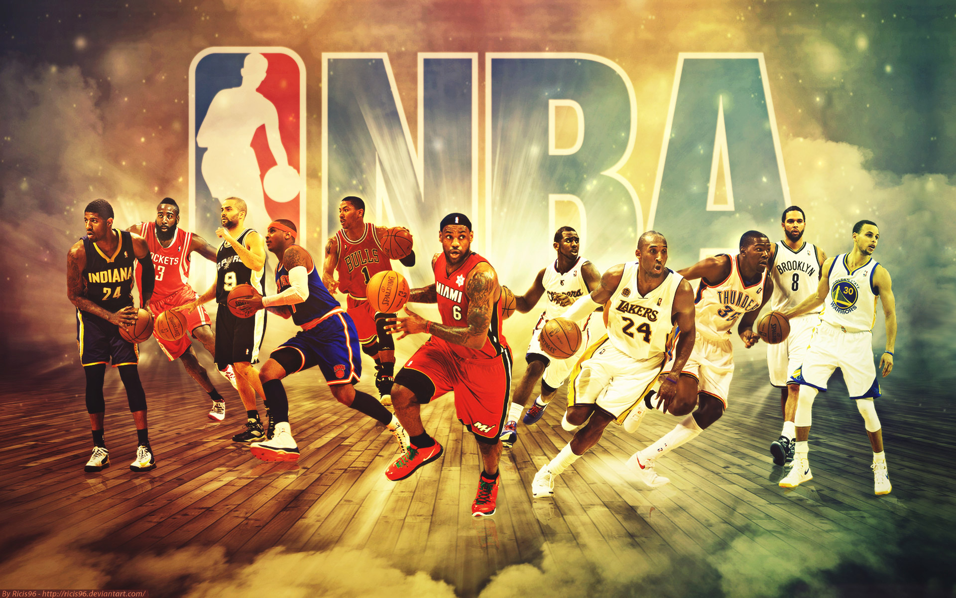 Wallpaper Of Basketball Players