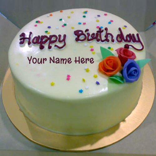 Wallpaper Of Birthday Cake With Name