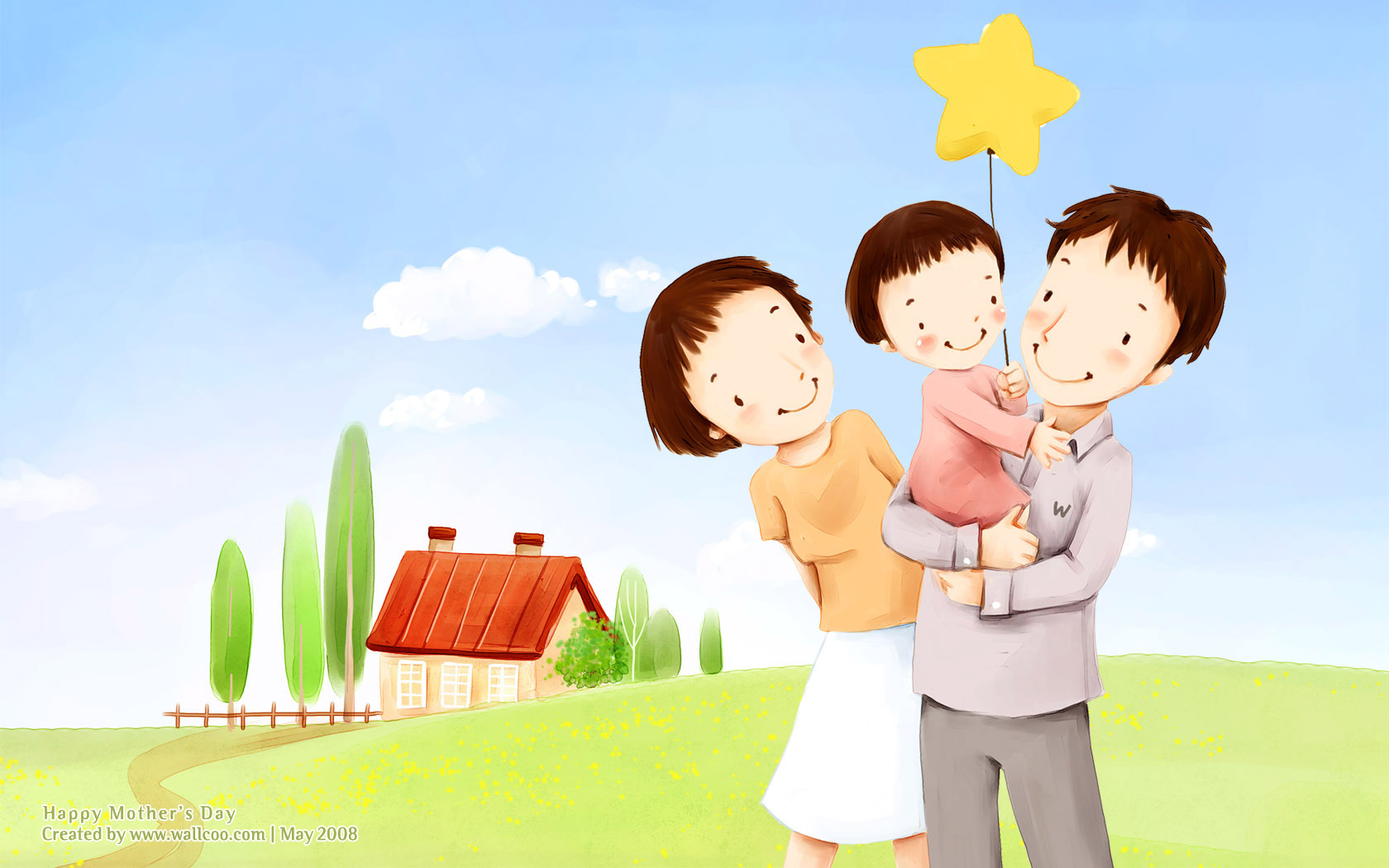 Wallpaper Of Happy Family