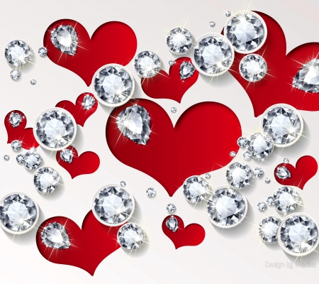 download wallpaper of hearts and diamonds gallery