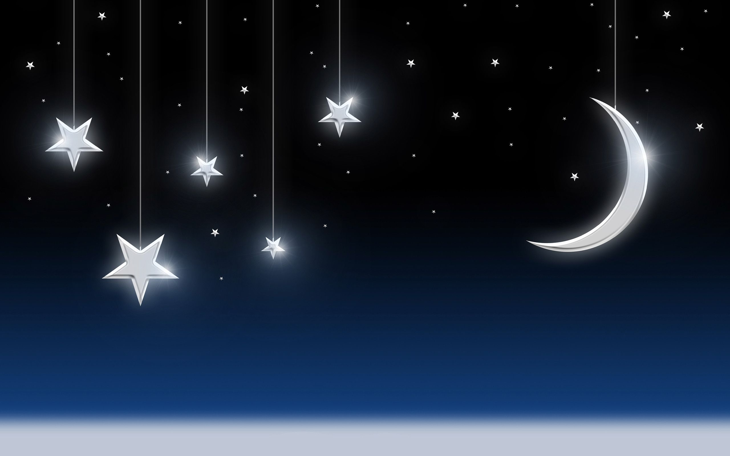 Wallpaper Of Moon And Stars