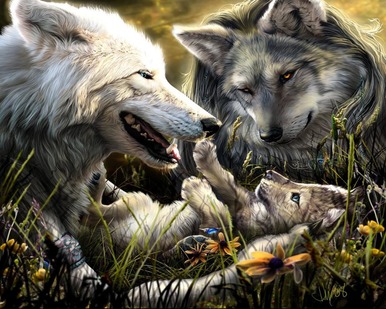 Wallpaper Of Wolves