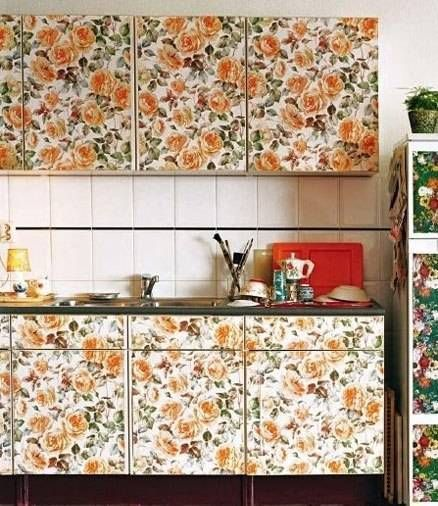 Wallpaper On Cabinets