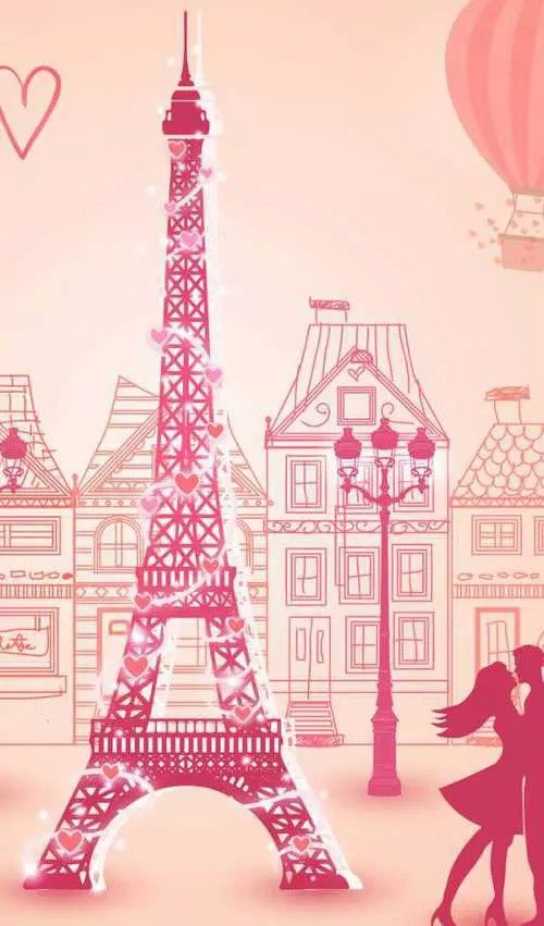 Wallpaper Paris Pink