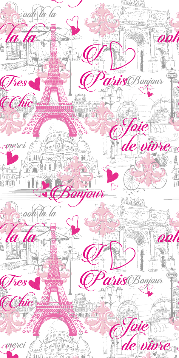 Wallpaper Pink Paris