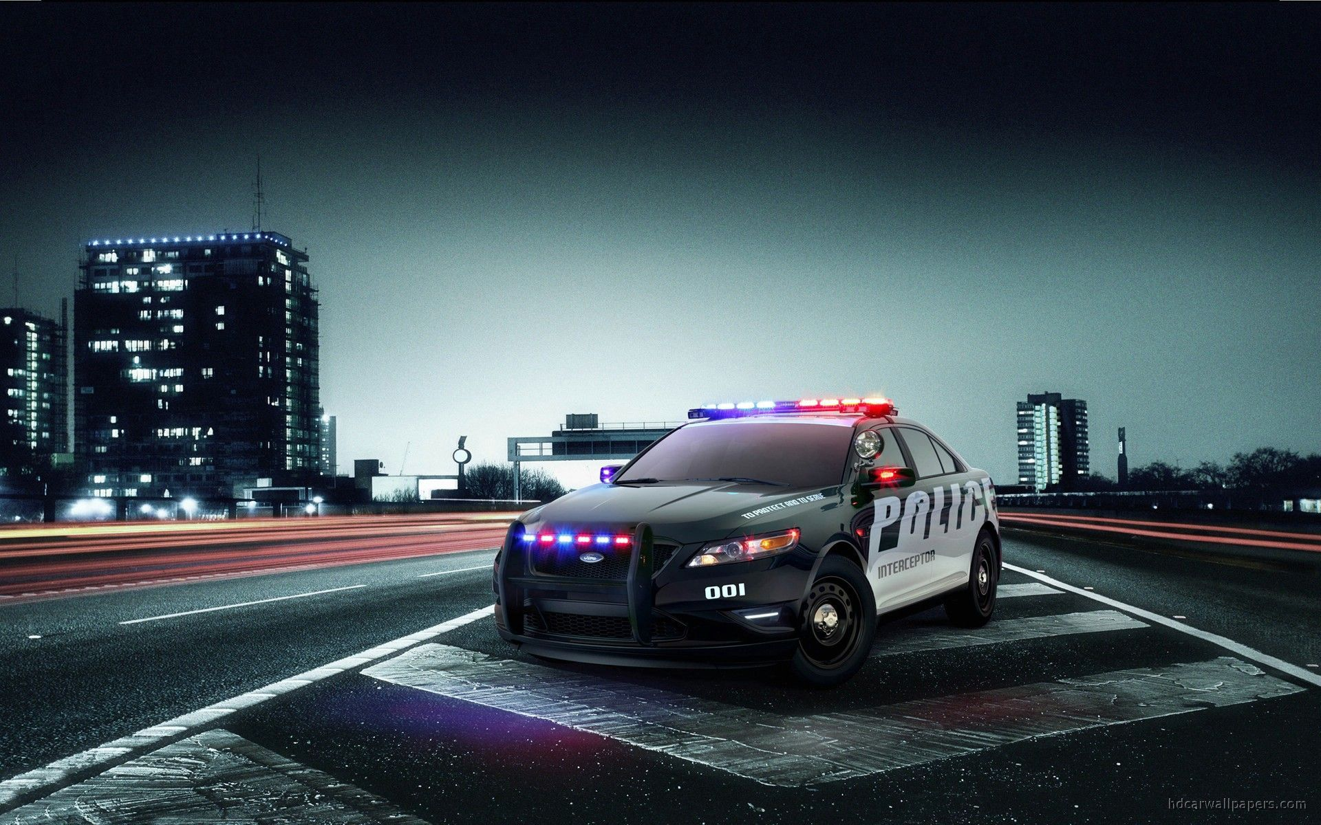 Wallpaper Police Car