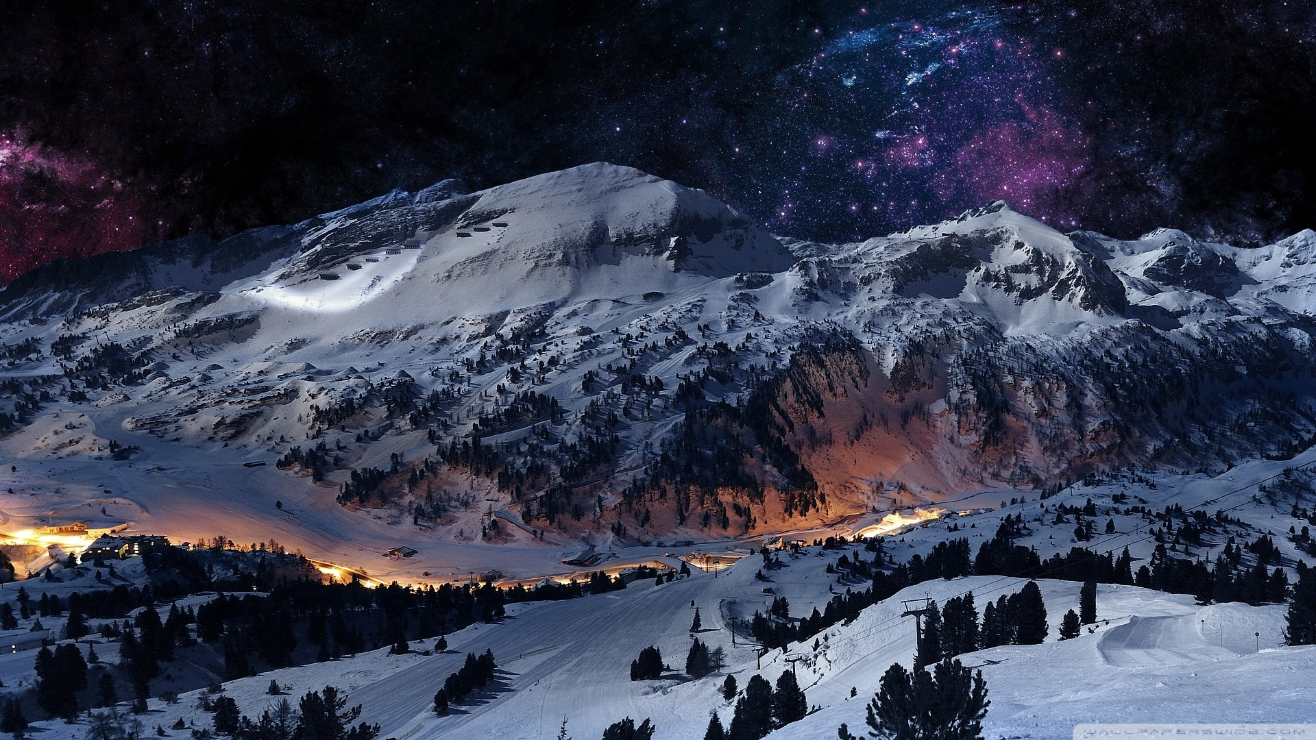 Wallpaper Snow Night