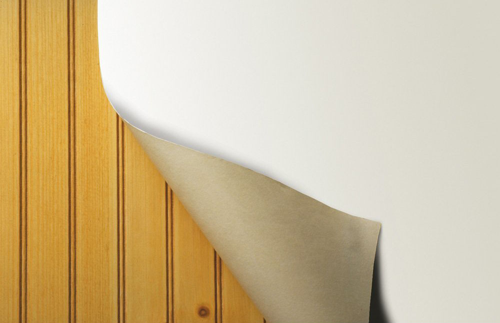 Wallpaper To Cover Wood Paneling