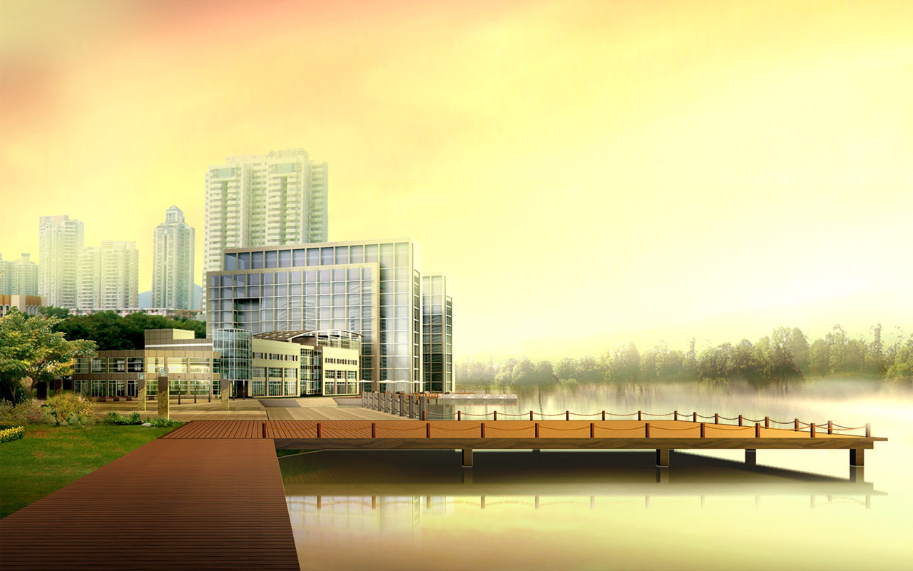 Wallpaper With Buildings Design