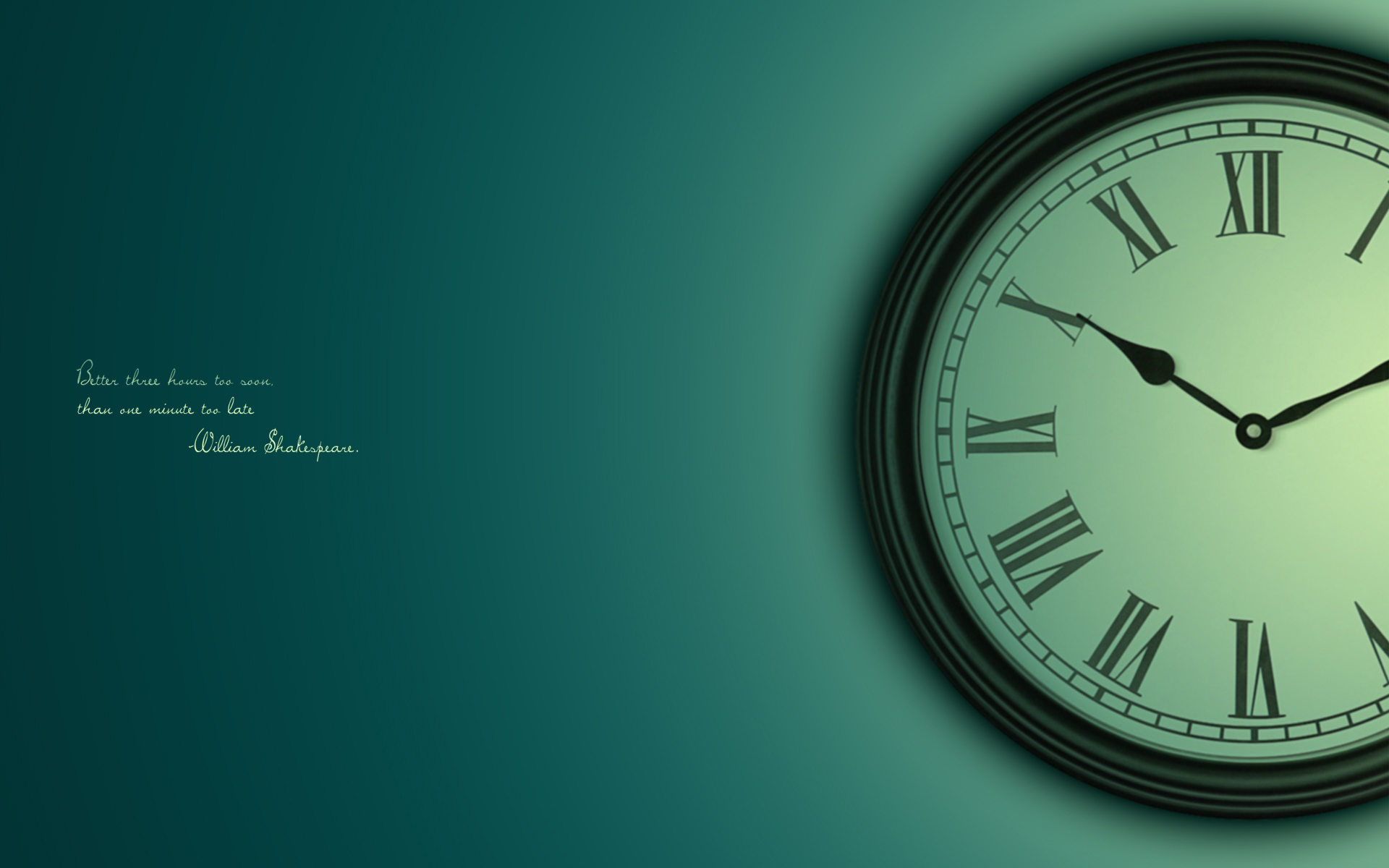Wallpaper With Clock