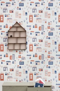 Wallpaper With House Print