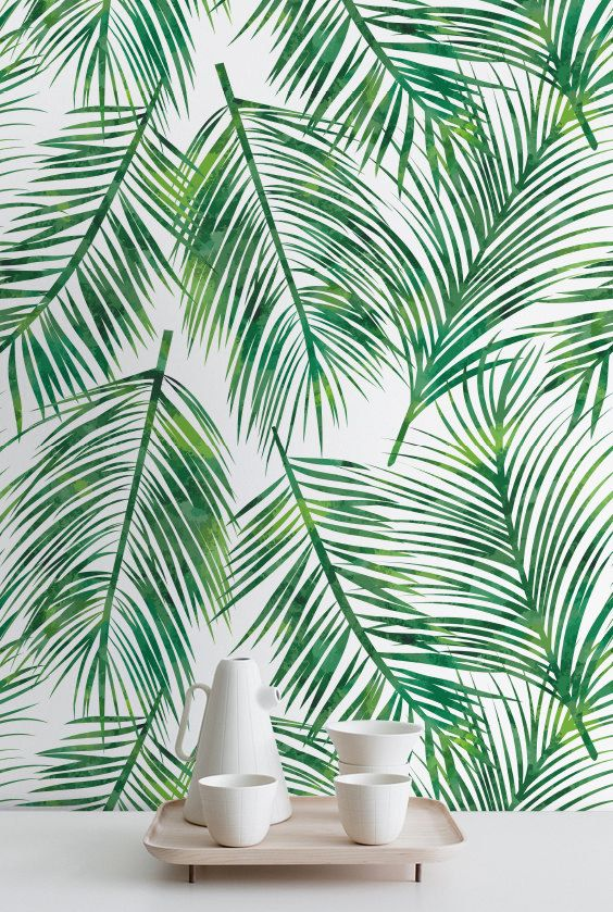 Wallpaper With Leaves