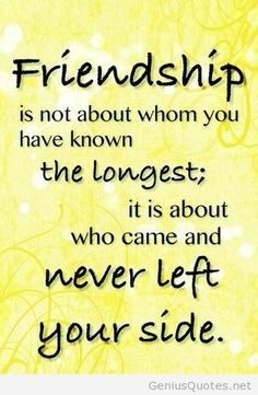 Wallpaper With Wordings Of Friendship